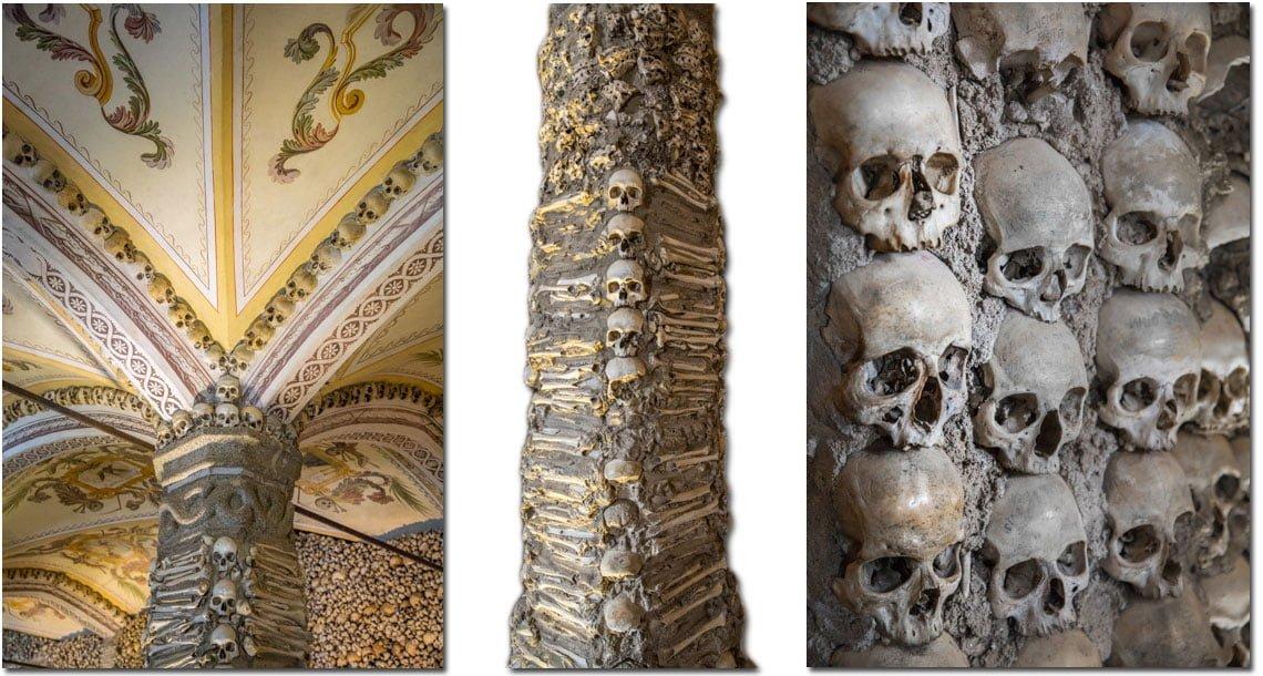 Chapel of bones in Evora, Portugal