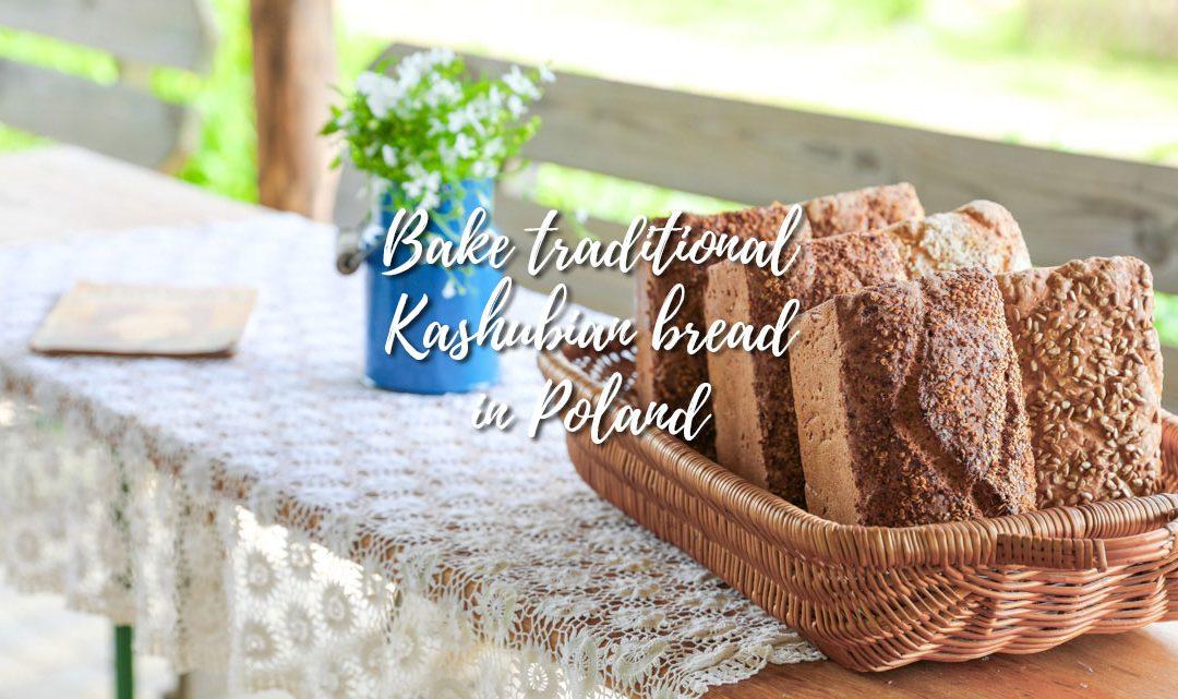 Bake Kashubian bread in the Kashubian District, Poland
