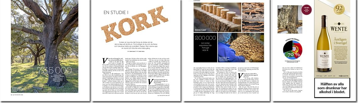An article on cork we did