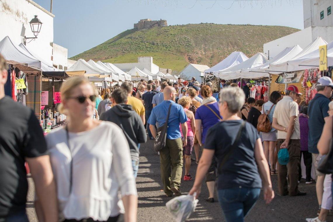 Teguise market in Lanzarote