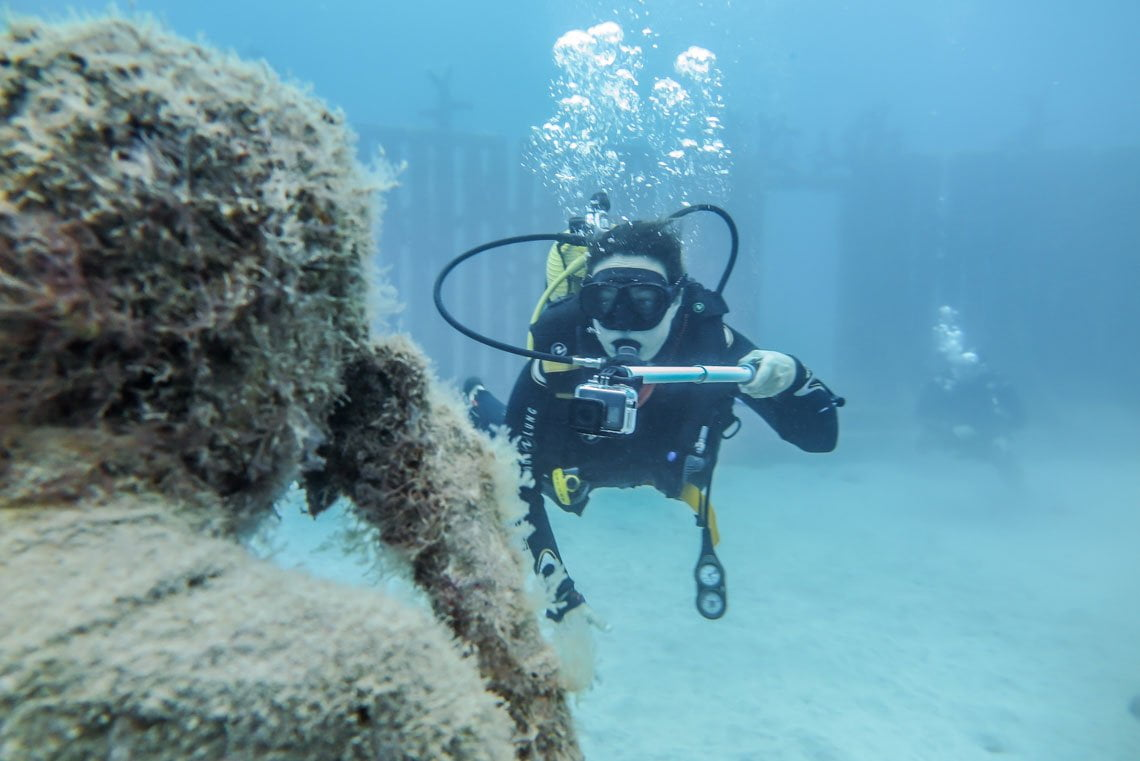 Our dive at Museo Atlantico
