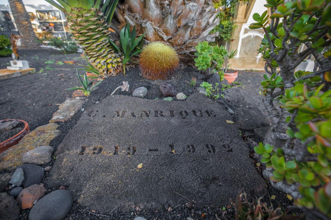 Cesar Manrique grave