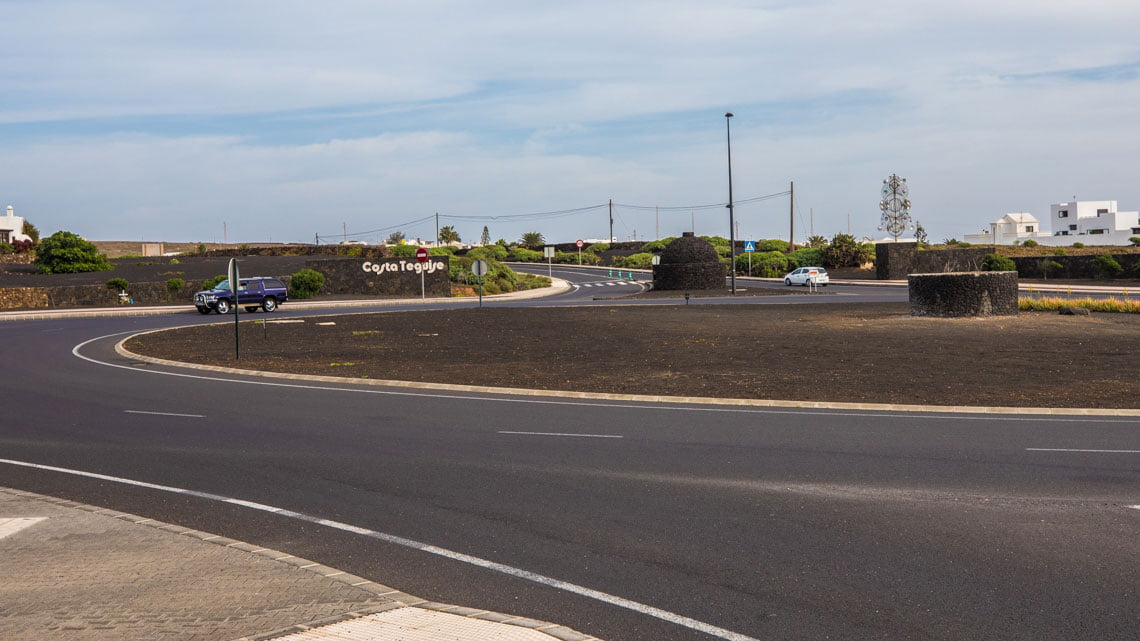 The roundabout where Cesar Manrique died