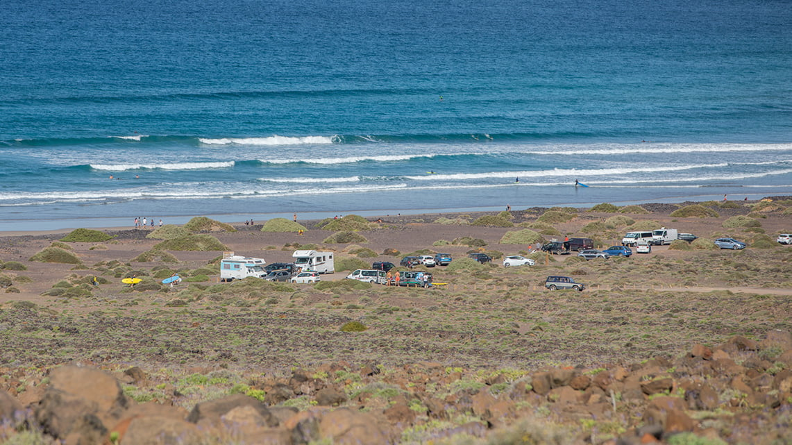 Wild camping in Lanzarote