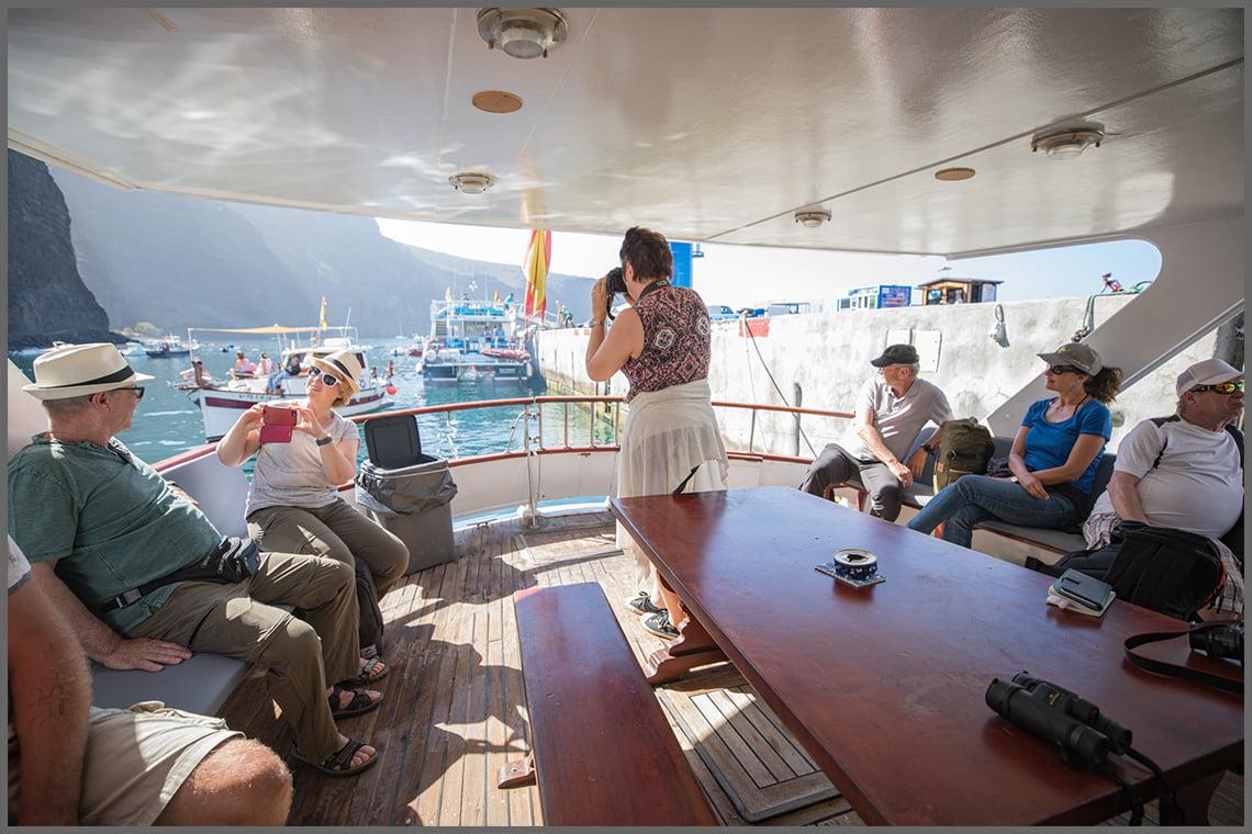 On board the boat Tina in La Gomera