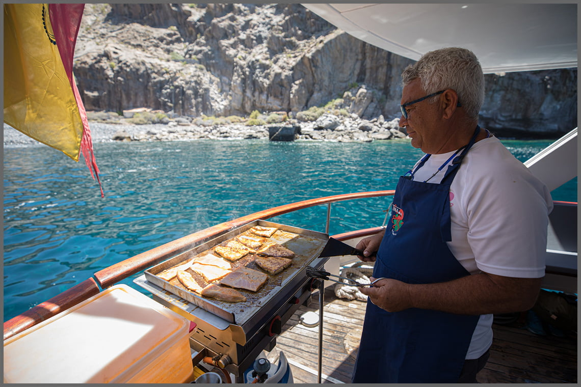 Grilled Chicken on the boat