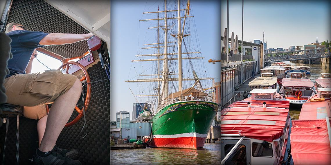 The Grand Harbor tour - one hour on Elbe river