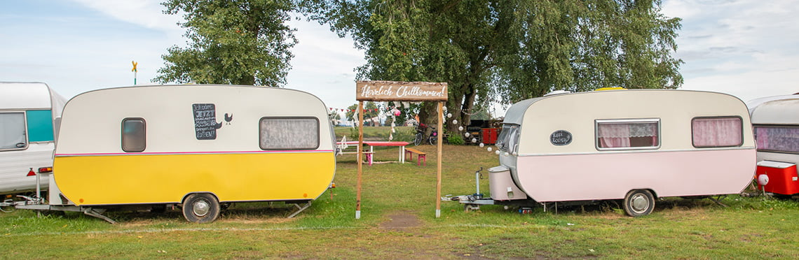 Camping stover strand glamping area