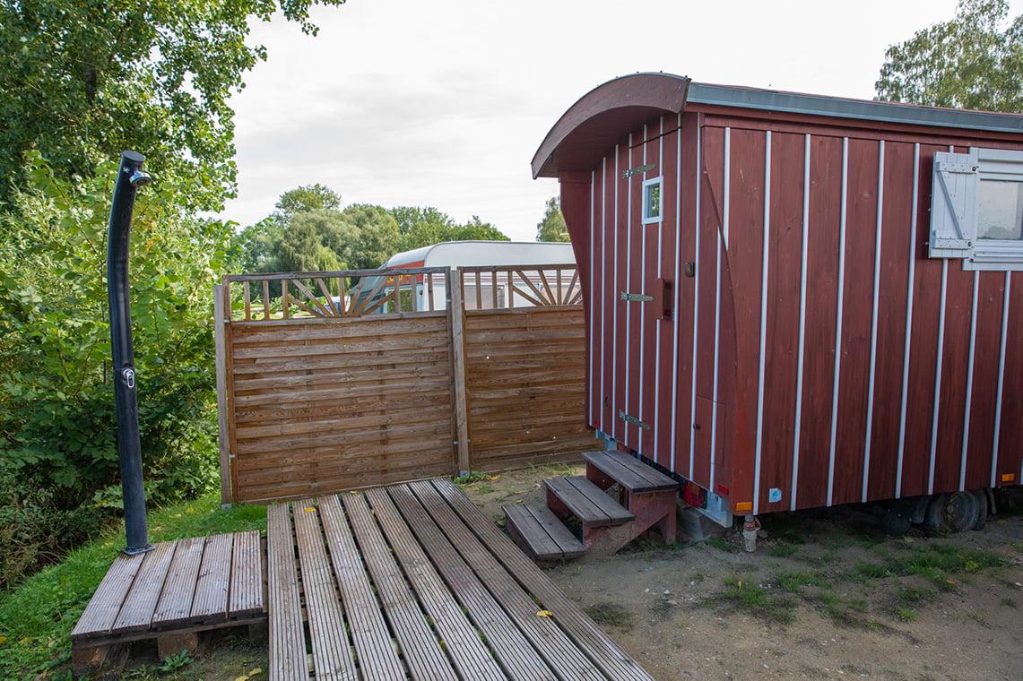 sauna at Stover strand camping