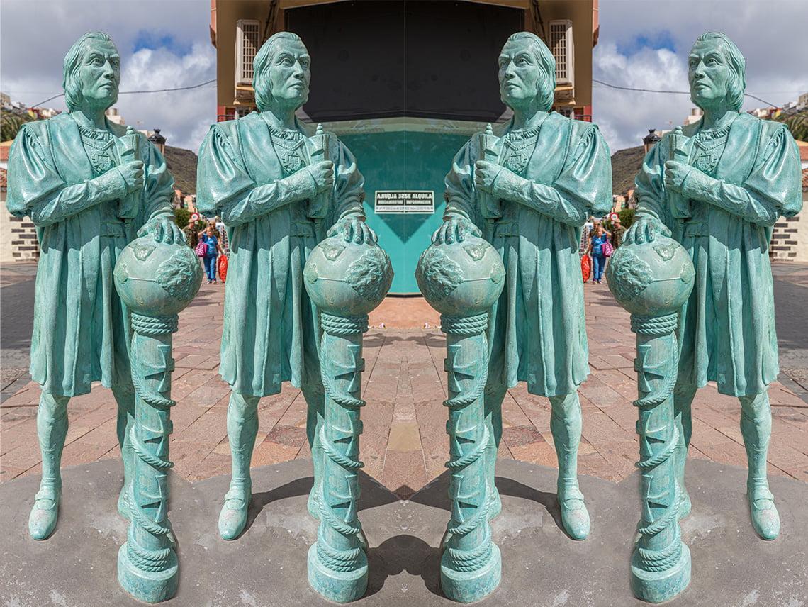 Guide to La Gomera - Statue of Columbus
