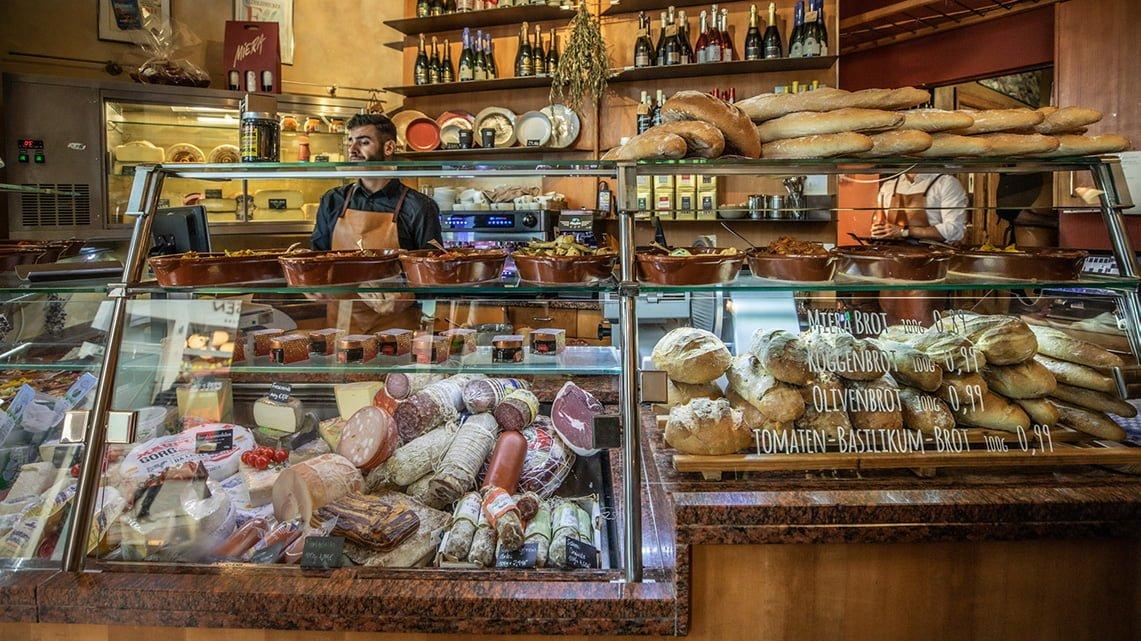 Delicacy shop at restaurant miera