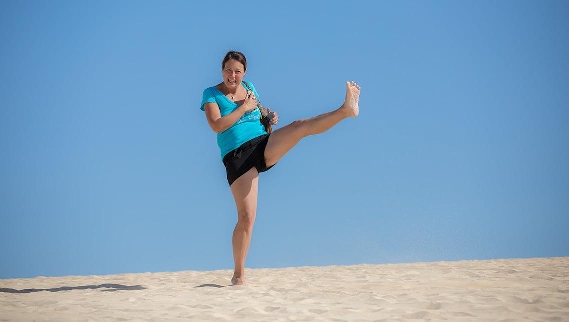 kick it in Fuerteventura