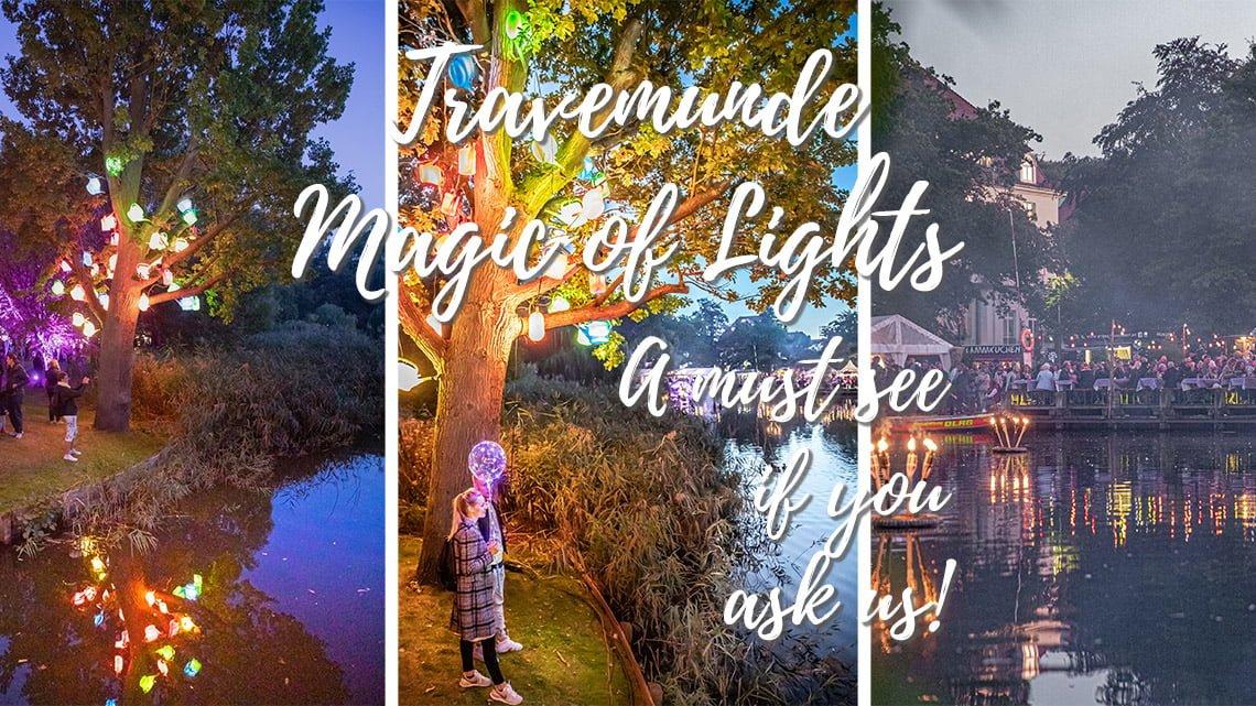 Magic of lights festival in Travemunde