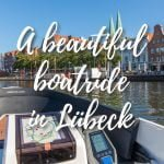 Boat tour around Old Town in Lubeck