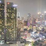 The skyline of Kuala Lumpur at night