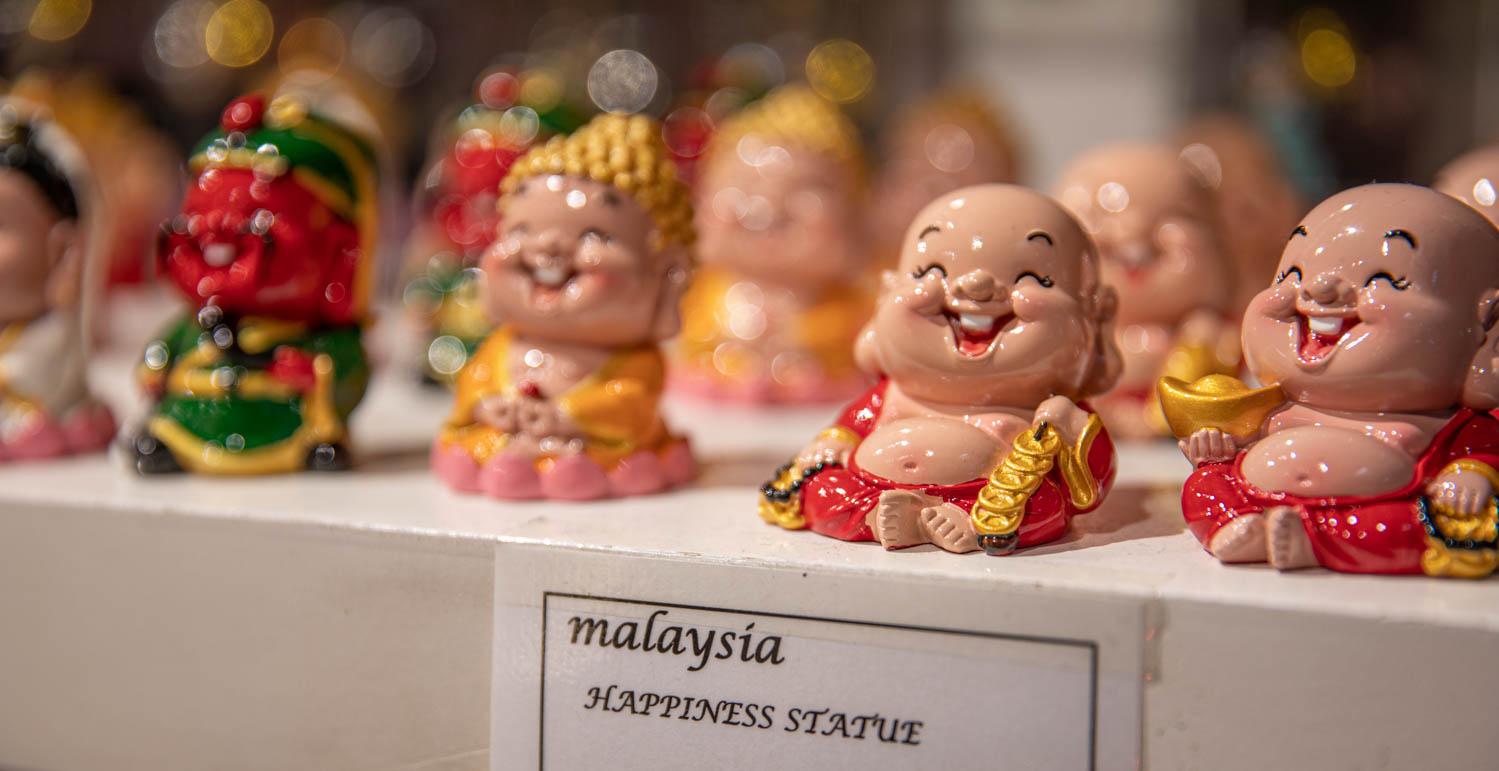 Malaysian statue of happiness