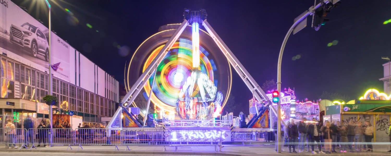 Amusement park at the wine festival