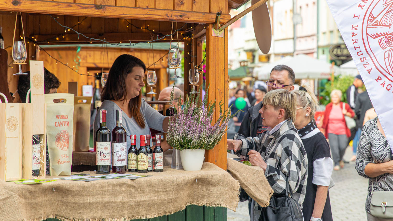 a small wine both at the Wine festival in Poland, Zielona Gora