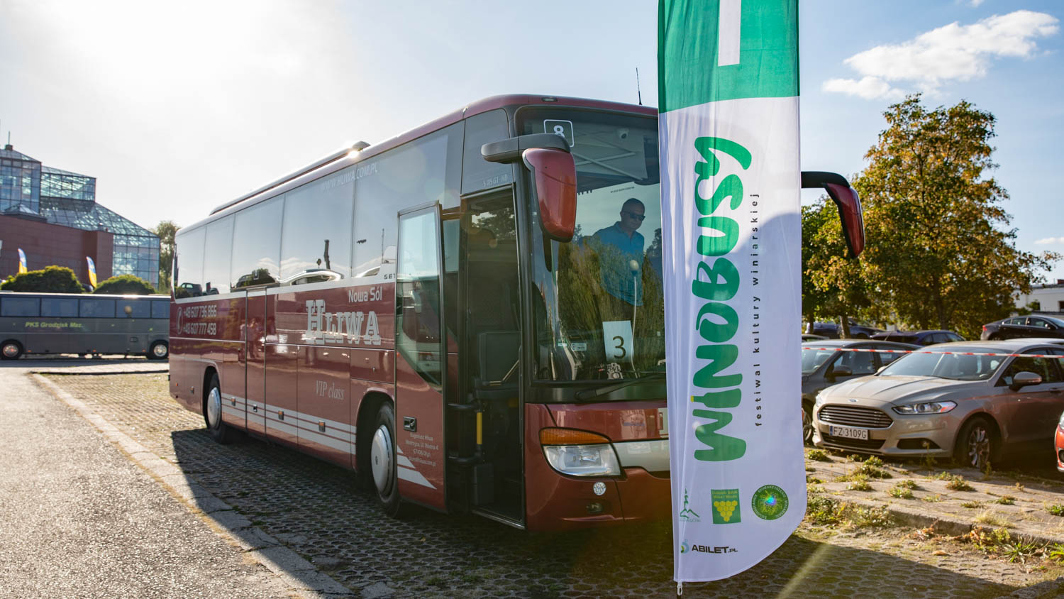 Winobusy is a bus that takes you to a wine tasting
