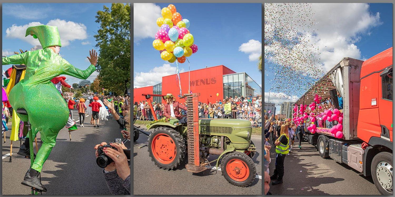 The Parade Korowod Winobraniowy in Zielona Gora, Poland