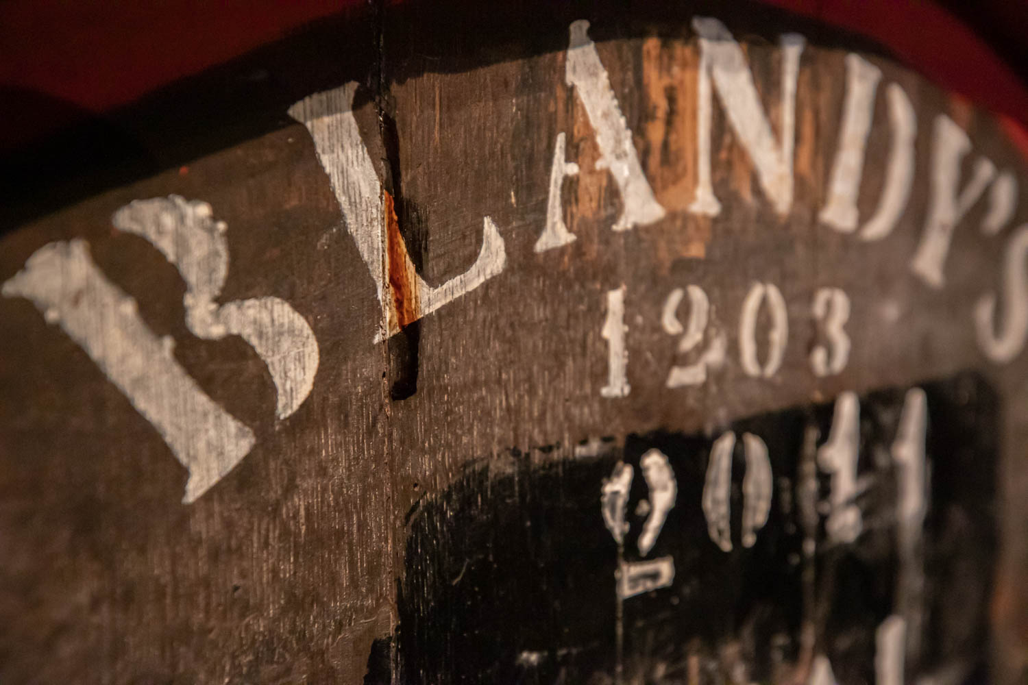 A old wine barrel at the Madeira Wine Company