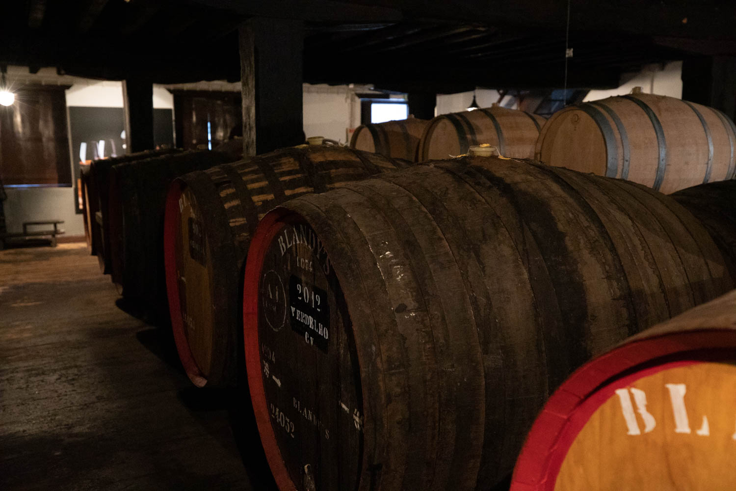Old wine barrels at the Madeira Wine Company