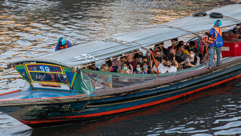 Boat taxi in Bangkok, Thailand