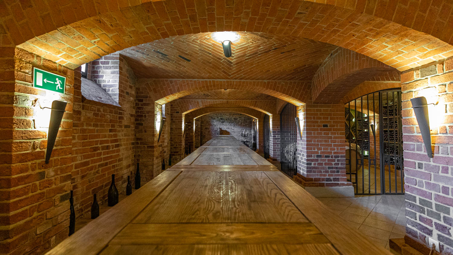Wine cellar at the Wine spa in Poland Palac Mierzecin