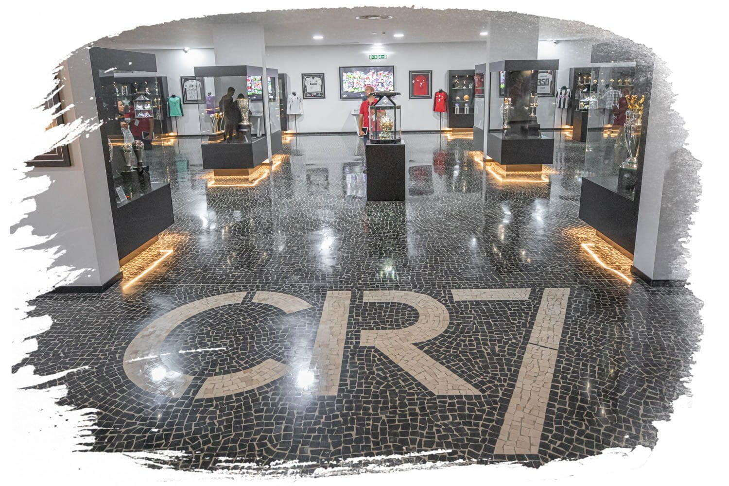 Look at all the trophies at the CR7 Museum