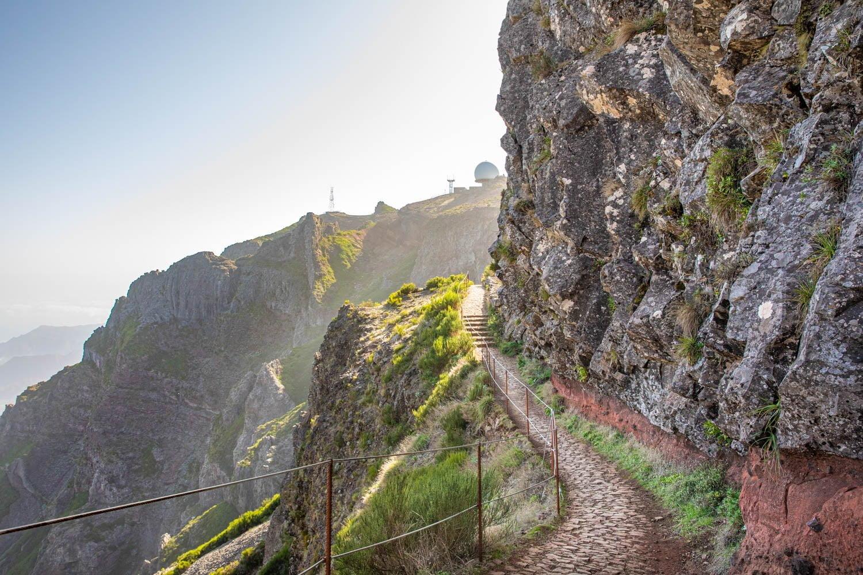 Views at the peak to peak walk in Madeira