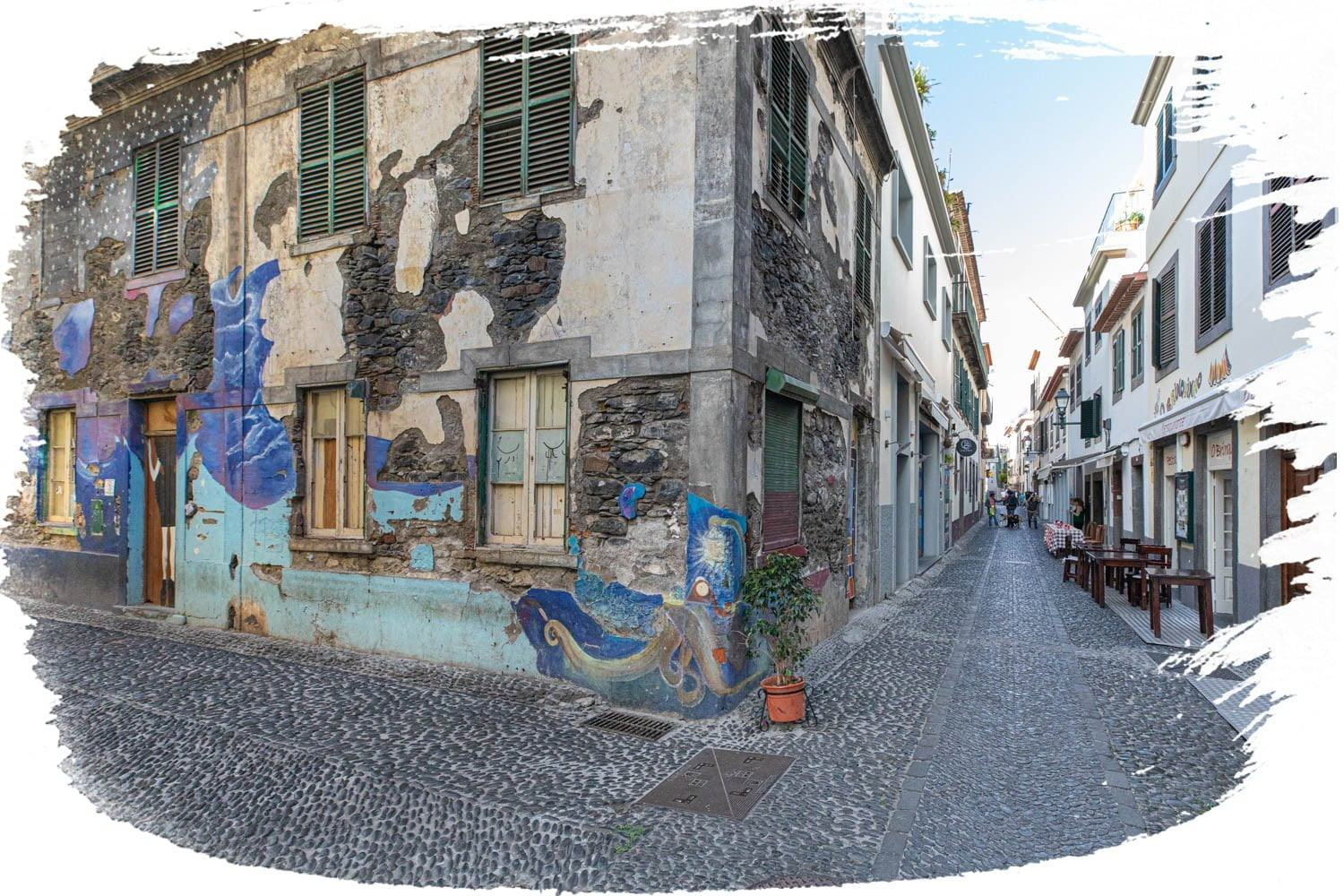 The streets of Old Town Funchal