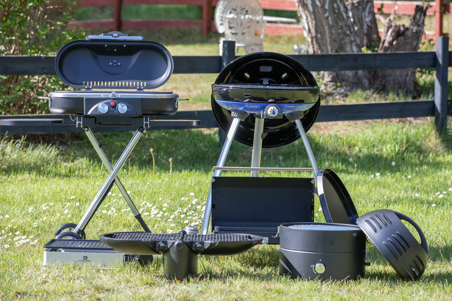 LPG Barbecuing grills making a test