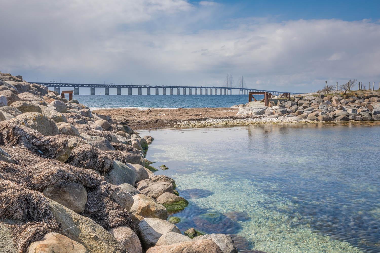 Öresundsbron, Sweden from Limhamn, Malmö
