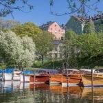 Boats in a marina in Sweden near Långholmen