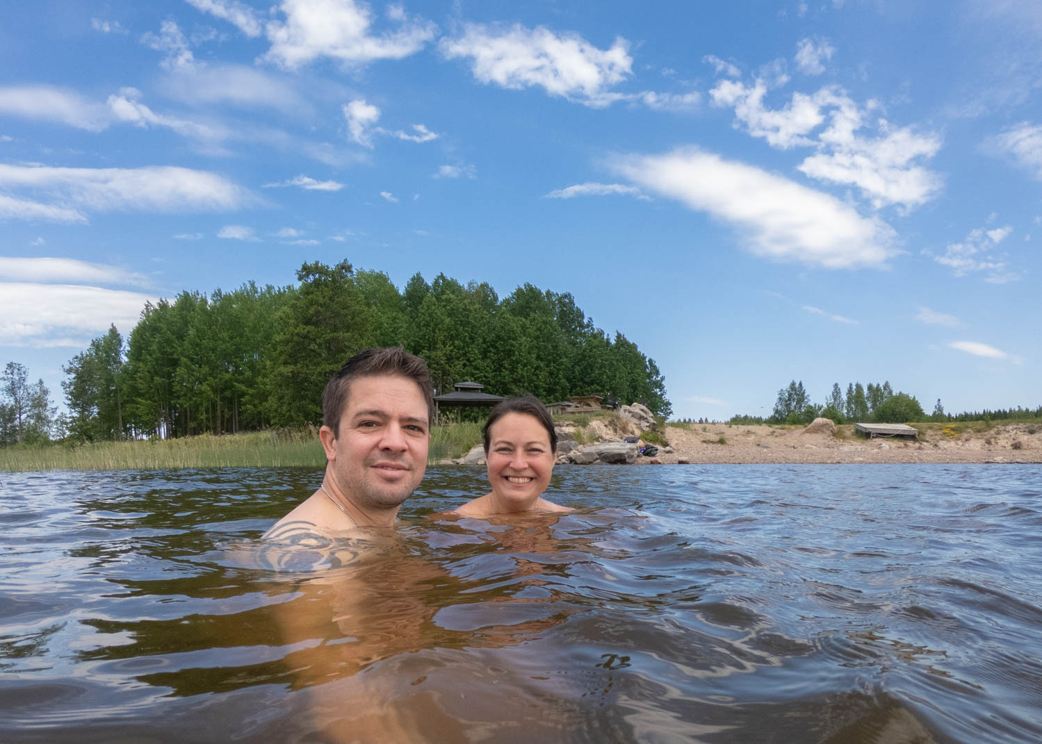 Skinny dipping in Dalarna