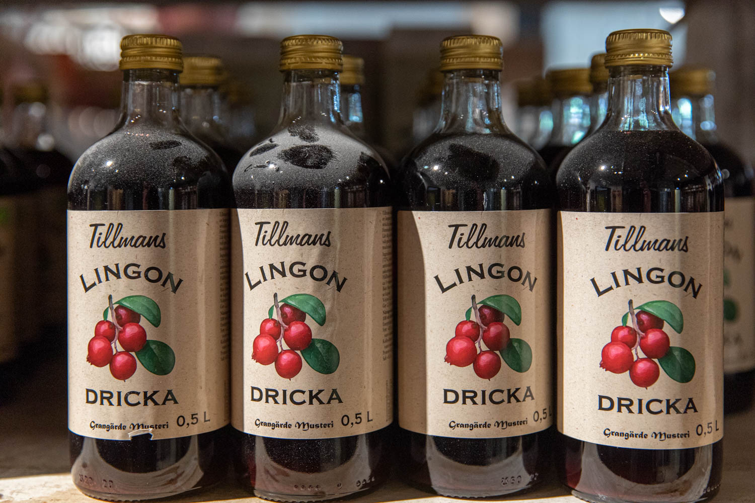 Lingondricka a Swedish mineralwater with a hint of lingon taste