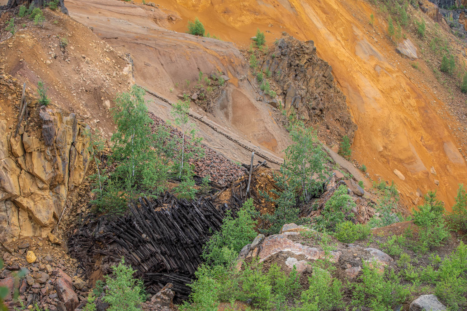 The great pit - a huge collapse in the mine