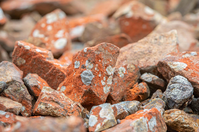 Red stone from Falu Gruva