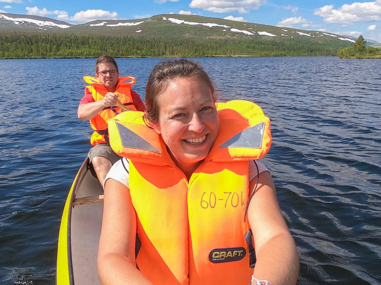 Canoe in Grövelsjön