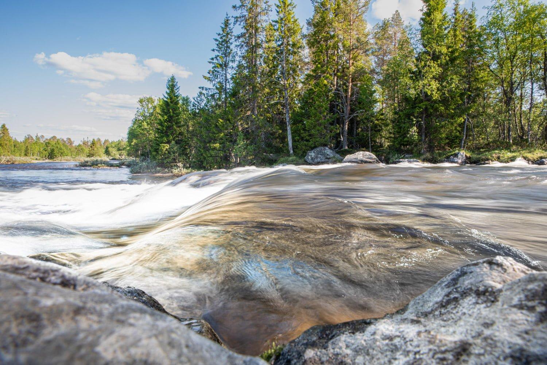 The waterfalls in Storsatern, Dalarna - Sweden