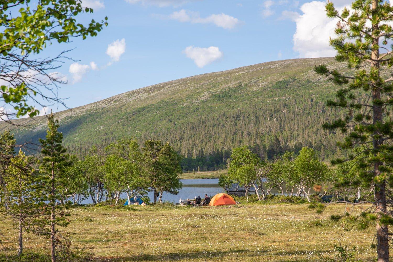 Camping in Grovelsjon, Dalarna - Sweden