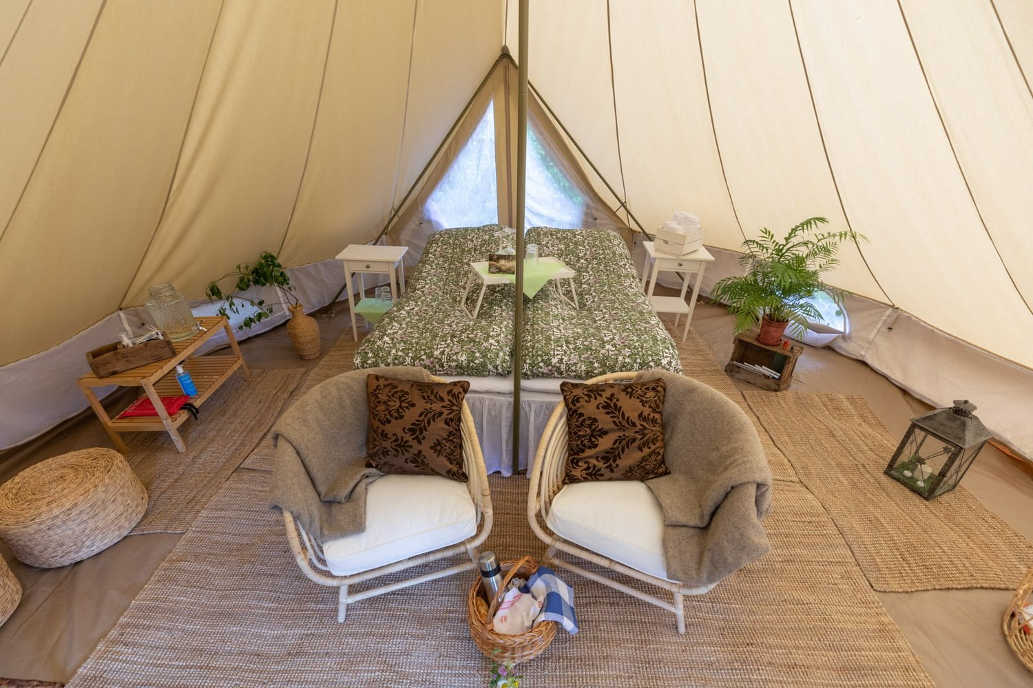 The tent at the glamping in Dalarna - Sweden