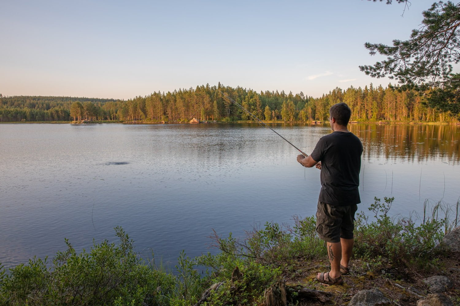 Hiking or fishing in the area