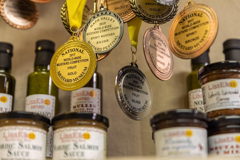 World winning mustard at Liss Ellas mustard tasting.