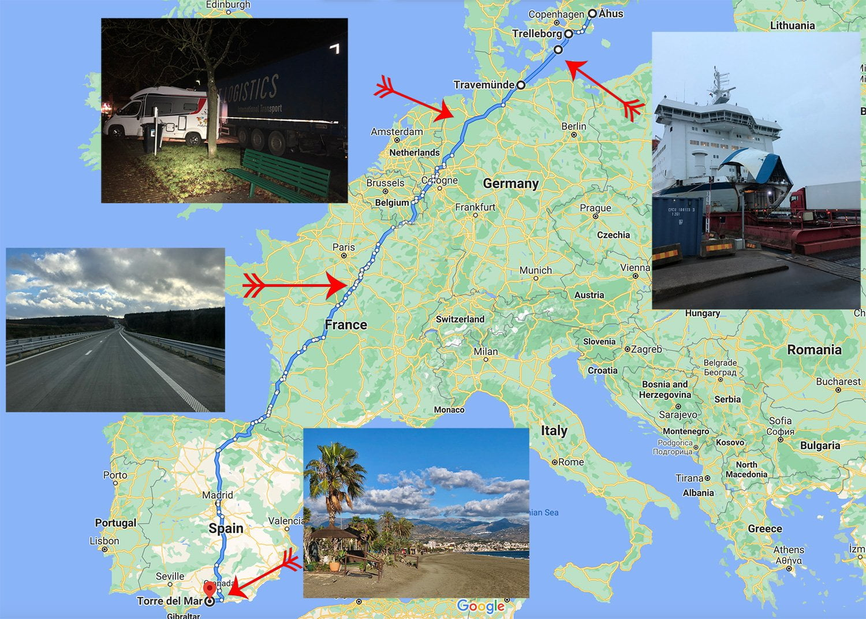Driving through Europe