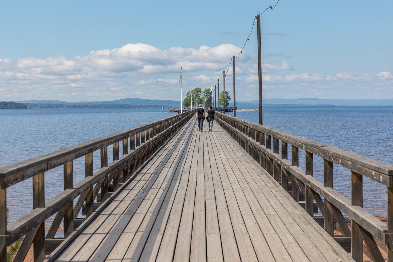 Rättviksbryggan - Road trip along lake Siljan by motorhome