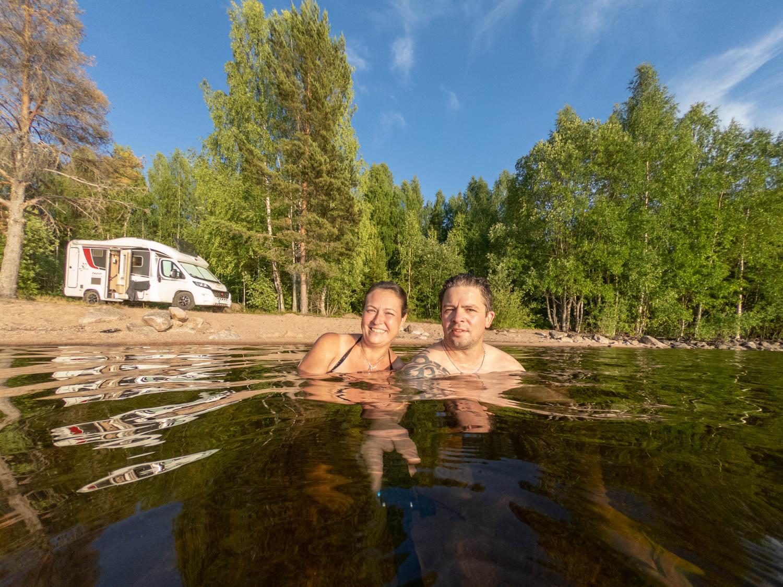 Swim in lake Siljan