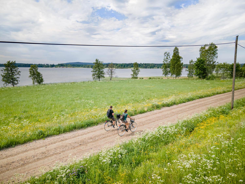 Cycle around Lake Siljan