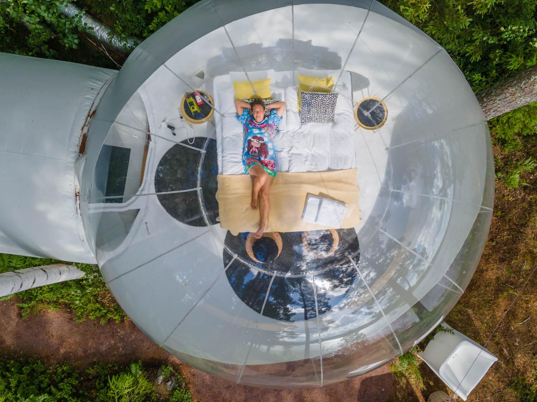 Sleep in a bubble in Dalarna Sweden a unique and odd hotel