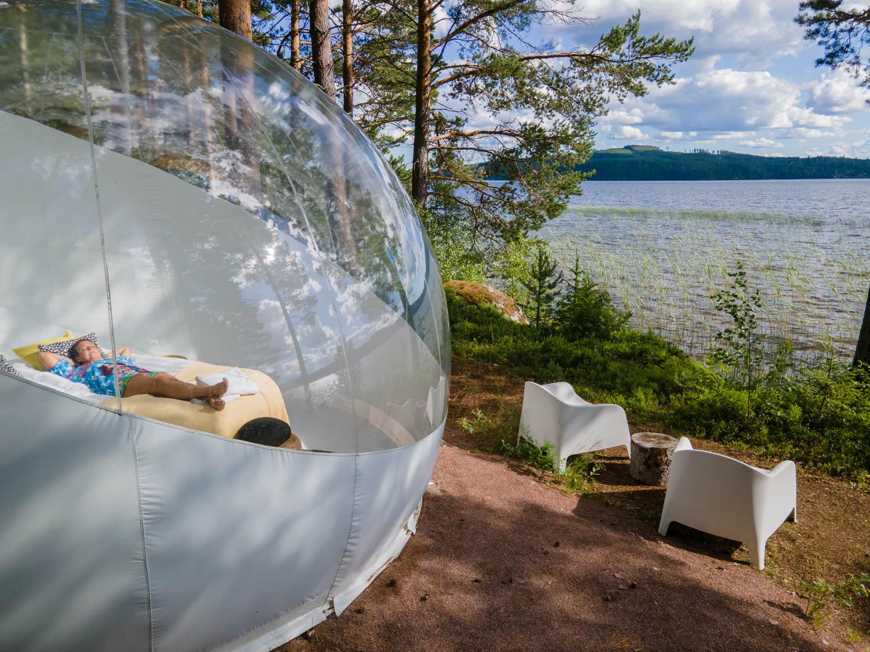 Sleep in a bubble in Leksand, Dalarna